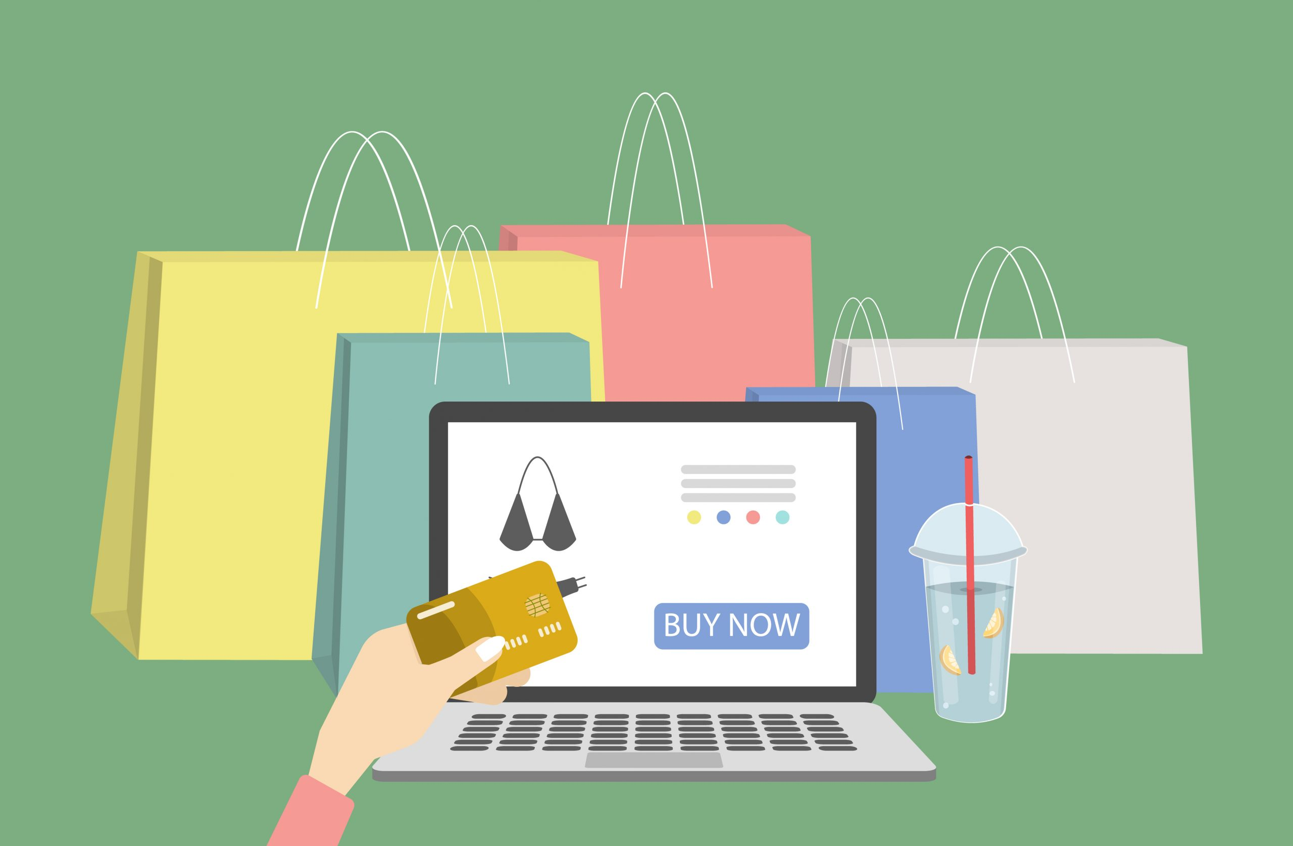 オンラインショッピングのイメージイラストです。